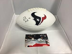 Deshaun Watson Autographed Signed Houston Texans Logo Football GTSM Watson Player Hologram