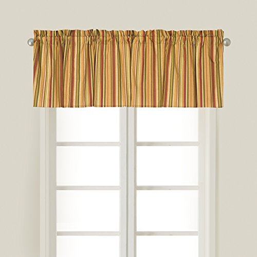 C&F Home Angela Green Floral Cotton Valance Set of 2 Valance Set of 2 Angela Green