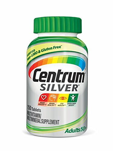 Centrum Silver Adult 150 Count (Pack of 1) Multivitamin / Multimineral Supplement Tablet, Vitamin D3, Age 50+