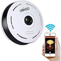 960P IP Camera, 360 Degree Indoor Wireless WiFi Surveillance Security Network Camera with IR Night Vision/2-way Audio/Motion Detection White (X) (1 Pack)