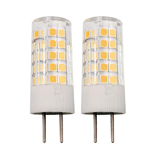 b 5W AC 110V/120V/130V 500LM GY6.35 Bi-pin Base Warm White 3000K Dimmable G6.35/GY6.35 Base T4 JC Type 45W Halogen Bulbs Equivalent 2-Pack (Warm White) ()