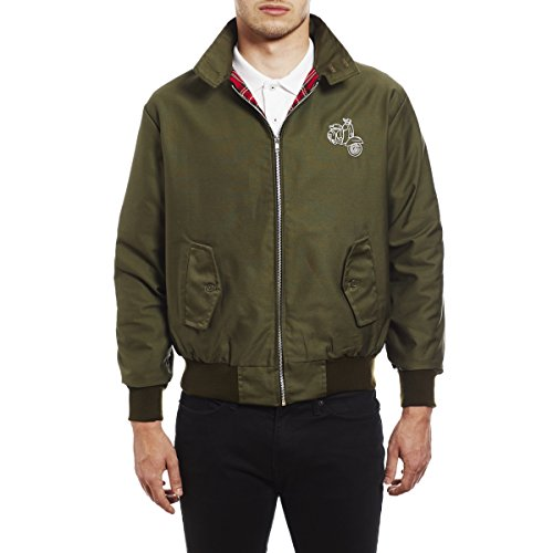 by de Chaqueta Soul Northern Vespa Verde Embroidered Scooter Harrington Hombre 45REVS dx8YYXwrq