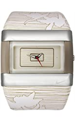 Nike Women's C0024-178 Merge Attract White Leather Watch