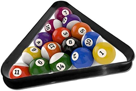 Billiards Tripod Standard 2-1//4 Plastic triangle for 9 Balls Pool Ball Rack with Reinforced Rounded Edges