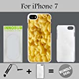 mac and cheese ipod 5 case - Innosub Custom iPhone 7 Case (Mac n cheese ) Edge-to-Edge Plastic White Cover with Shock and Scratch Protection | Lightweight, Ultra-Slim | Includes Stylus Pen
