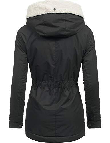 Dame Black018 Pour Xs 3 Veste Capuche Avec Monica D'hiver Ragwear Couleurs xl qwIZPBn