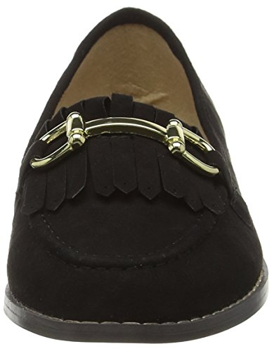 London Rebel Lr1105, Mocasines para Mujer Negro