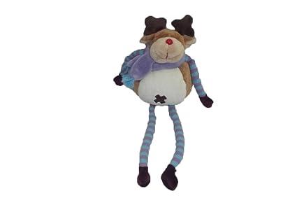 X- otros – Doudou el corte ingles ciervo reno marrón pañuelo morado larga piernas azul