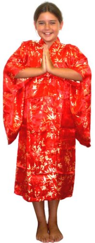 Kid's Japanese Kimono Costume (Size:Medium 6-8)