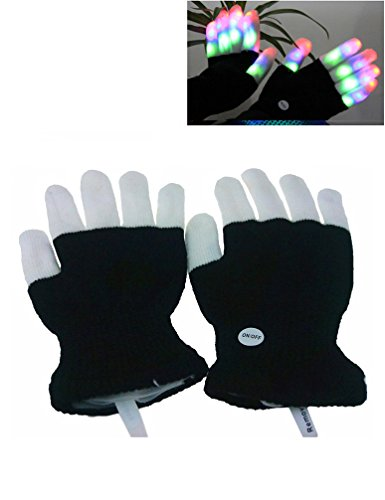 [Luwint LED Colorful Flashing Finger Lighting Gloves] (Father Of The Year Costume)