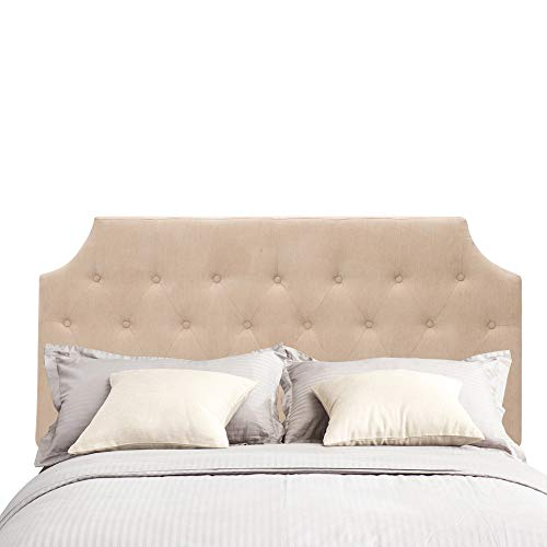 Andeworld Button Tufted Classic Queen/Full Size Headboard with Height Adjustable (Queen, 8805-C) (Upholster Headboards)
