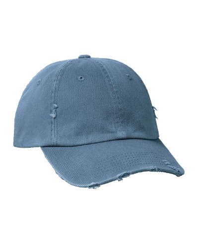 District Threads DT600 Distressed Cap - Scotland Blue - OSFA (Hats For Wholesale)