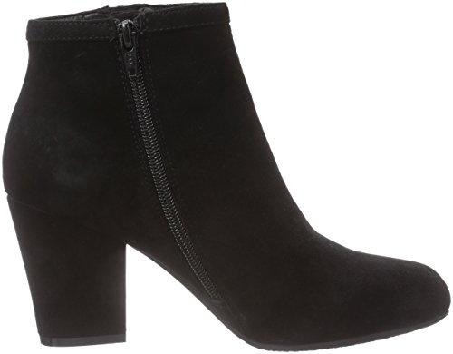 Cuero Negro Schnoor Sofie bajo de Caño de Mujer Botas Negro Boot w Suede Zip vUSTU