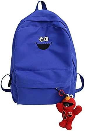 حقيبة ظهر نسائية بريبي بسيطة كاجوال حقيبة سحاب حقائب ظهر للطلاب مفتوحة