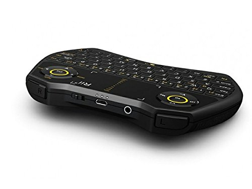 Rii mini i28 2.4 GHz Wireless Remote Mouse Voice Keyboard for Laptop, PC, Smart TV (Black) … by Rii