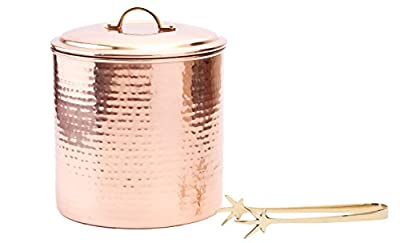 Old Dutch Hammered Decor Pasta Canister, 16 oz, Copper