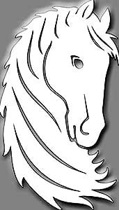 ليزرارتس لوحة جدارية خشبية، رأس خيل 160*100سم، 5 ملم - W111441