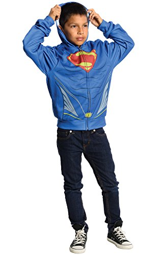 Rubies Man of Steel Superman Hoodie, (Man Of Steel Cosplay Costume For Sale)