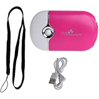Itemap Mini Portable HandHeld Desk Air Conditioner Humidification Cooling Fan Cooler (Hot Pink)