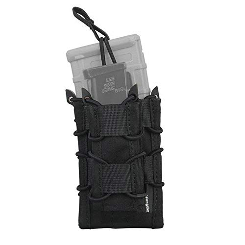 EMERSONGEAR Tactical Double M4 M16 Mag Pouch Molle Airsoft with Pistol Magazine Pouch (Black)