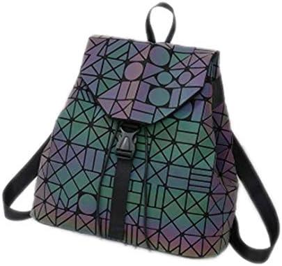 Compre Mochila De Mujer Geométrica Rómbica Nuevas Mochilas De Chicas Fluorescentes Adolescentes Plegables De Moda Bolsas Escolares De Estudiantes