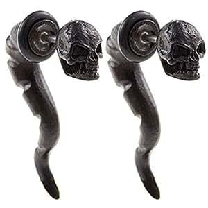 16 G 16 1616 de gran calibre 1,2 mm tamaño del eje negro Lavida Tramposo illusion de aleación pendiente de Cavernícola de cara de conectores de parecer 2 G 6 mm cuerpo falsos joyas ABWA