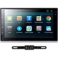 TOCADO In Dash Car DVd Player with 7 Display, GPS Navigation Android 6.0 Double 2 DIN Car Stereo with Bluetooth, SD, USB, RDS Radio for Universal Car + Backup Camera