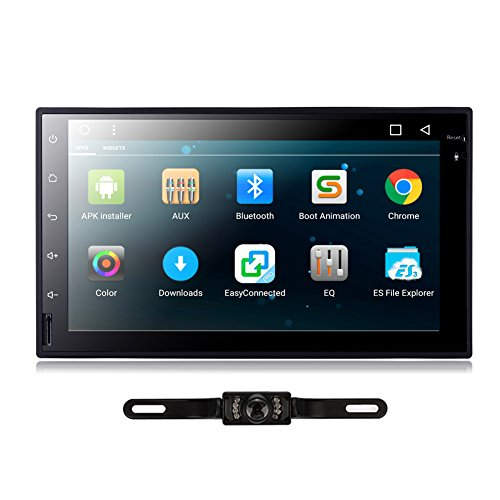 TOCADO In Dash Car DVd Player with 7'' Display, GPS Navigation Android 6.0 Double 2 DIN Car Stereo with Bluetooth, SD, USB, RDS Radio for Universal Car + Backup Camera
