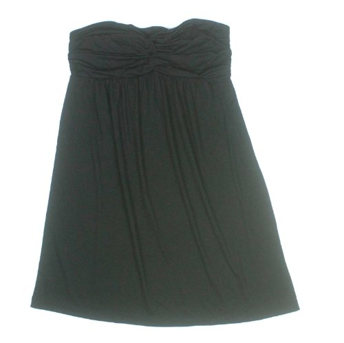 - Nicole Miller Womens Twist Top Swimsuit Cover Up Dress Small Black Magic