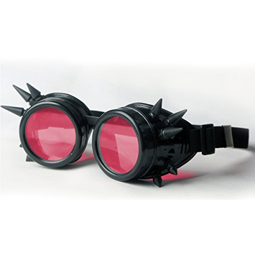 Reviews/Comments New Sell Vintage Steampunk Goggles Glasses Welding Punk Gothic ( Optional Color) FLORATA