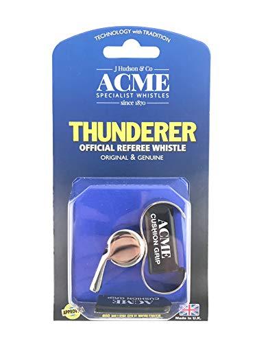 Whistle Dog Acme Thunderer (Acme Thunderer 60.5 Finger Grip Whistle Nickel Plated 477/60.5)