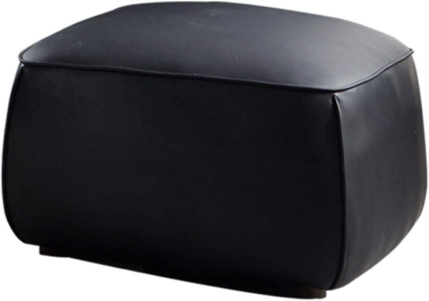 W7 Multifunctional Unstuffed Pouf Cover, Pu Leather, Exquisite and Simple Design, Compact Size, Comfortable and Durable, Zipper Teeth Opening and Closing