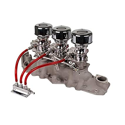 Amazon com: Chrome 9 Super 7 3x2 Carb/Intake Manifold Kit
