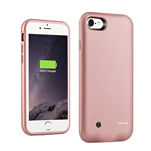 iPhone 8/7 Battery Case,Support Lightning Headphone, 3000mAh Ultra Slim Portable Charging Case for iPhone 7/8 (4.7') Battery Charger Case,100% Extra Battery/Lightning Port Input