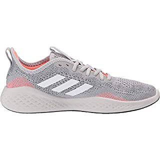 adidas Men's Fluidflow Bounce Regular Fit Running Sneakers Shoes, grey/ftwr White/Signal Coral, 12.5 M US