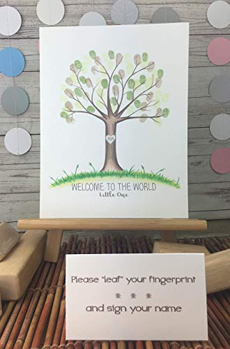 Customizable fingerprint tree for a wedding, baby shower, birthday, christening, or any other event