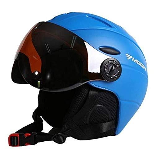 Heemtle 2-in-1 Visor Ski Snowboard Helmet Detachable Snow Mask Anti-Fog Anti-uv Integrated Goggle Shield Low Weight Adults Men/Women 6 Colors Optional (Adjustable:55-58cm)