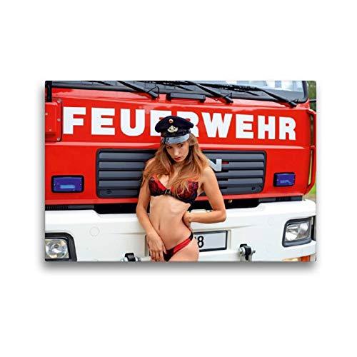 CALVENDO Thomas Siepmann Toile Textile de qualité supérieure Motif Calendrier de Pompiers II 45 x 30 cm Toile Murale Hommes