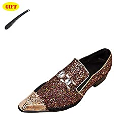 Rhinestone - One-Legged Leather Shoes