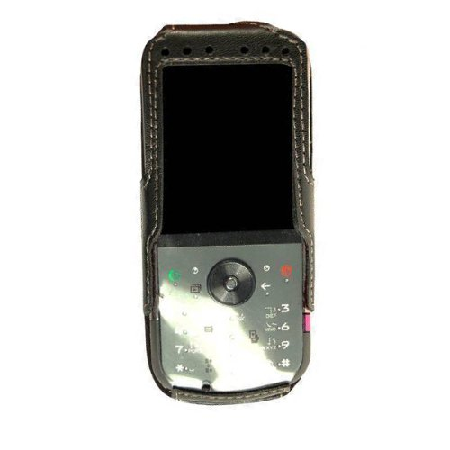 (Technocel Fitted Leather Case for Motorola ZN5 - Black)