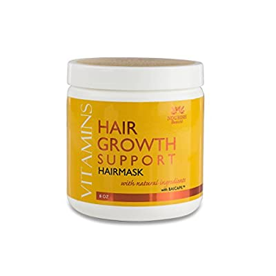 Hair Mask for Dry Damaged Hair - Deep Conditioning Hair Treatment Mask – Designed for Hydrating Hair Treatment Therapy and Hair Growth Support, For All Hair Types including Color Treated, 8 Ounces