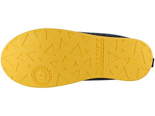 Pantofola Classica Unisex Kyzyz Con Suola Amovibile Grigio Scuro / Giallo