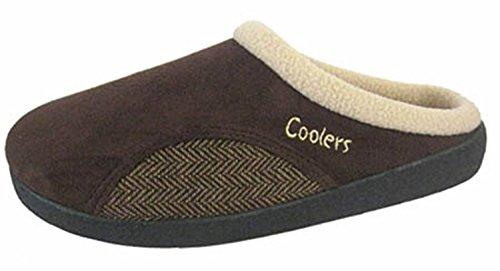 Coolers ,  Herren Durchgängies Plateau Sandalen mit Keilabsatz Braun