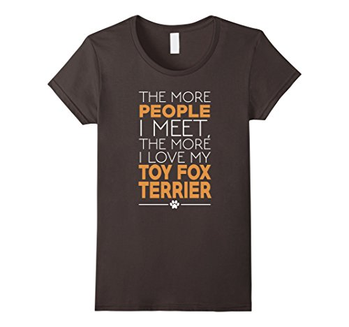 Womens Funny Toy Fox Terrier Dog Shirts for Women Men Lar...