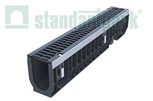 Standartpark - 4 inch trench drain cast iron complete set