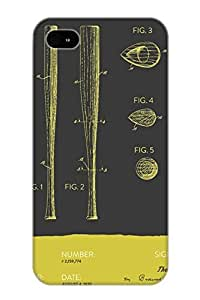 [fuKYjk-3245-sbMhg]premium Phone Case For Iphone 6 4.7/ Baseball Bat Patent From 1939 Gray Yellow Tpu Case Cover(best Gift Choice)