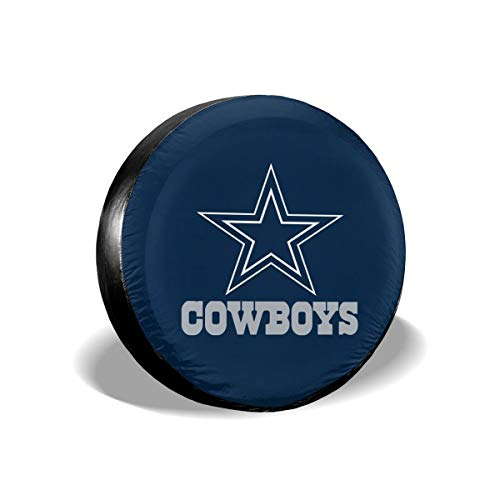 (Sorcerer Custom Colorful Waterproof Tire Cover Dallas Cowboys American Football Team Unisex Protection Spare Covers Storage Wheel Cover for Car Off Road Truck)