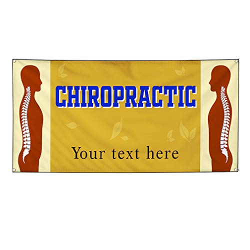 Custom Industrial Vinyl Banner Multiple Sizes Chiropractic Treatment Style B Personalized Text Here Profession Outdoor Weatherproof Yard Signs Brown 10 Grommets 56x140Inches from Fastasticdeals