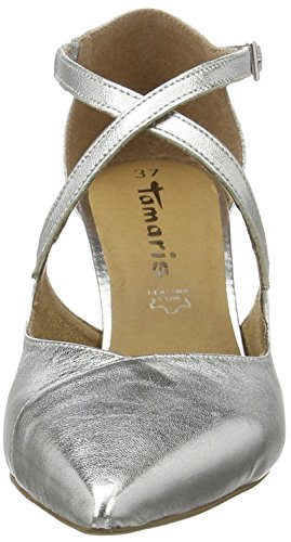Tamaris 24410, Zapatos de Tacón para Mujer Plateado (SILVER 941)