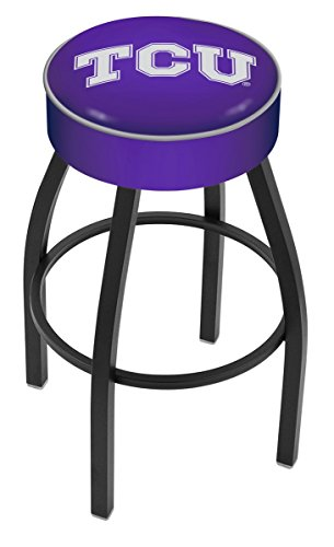 Holland Bar Stool L8B1 Texas Christian University Swivel Counter Stool, 25'' by Holland Bar Stool